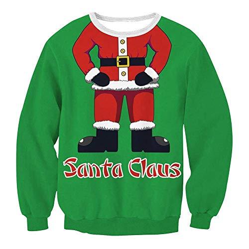 Sudadera Camisa Estampado L Casual Para Redondo Larga Blusa Navidad De carnaval Sg Tamaño Con color Cuello Navidad 2 Mujeres color Manga Mujer Tamaño 5 Camiseta 6vzXqX
