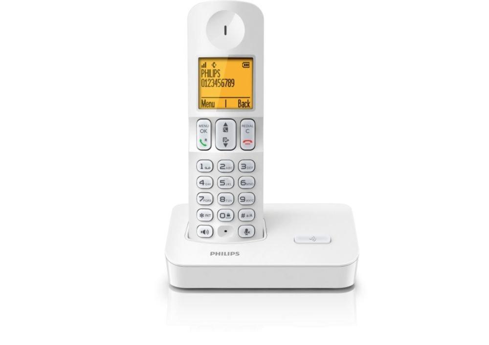 Téléphone fixe PHILIPS D4001 BLANC SOLO SANS REPONDEUR