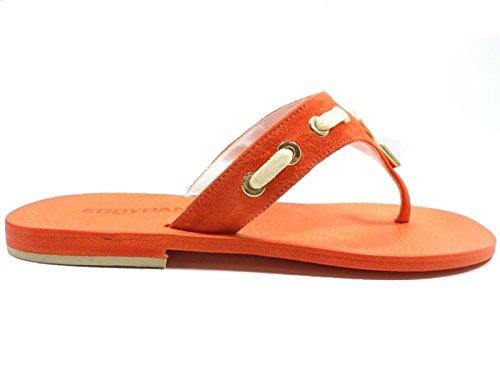 Zapatos Mujer EDDY DANIELE 37 Sandalias Naranja Gamuza AW299
