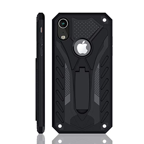 iPhone XR Case | Military Grade | 12ft. Drop Tested Protective Case | Kickstand | Wireless Charging | Compatible with Apple iPhone XR - Black