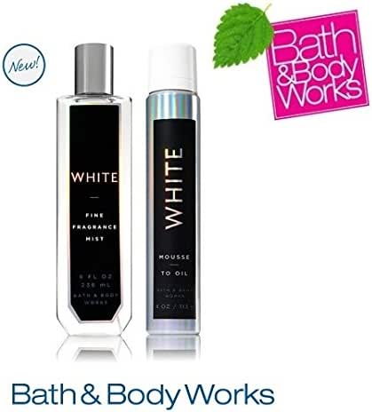 Bath & Body Works WHITE COSMIC Set Mousse-to-Oil and Fine Fragrance Mist Full Size