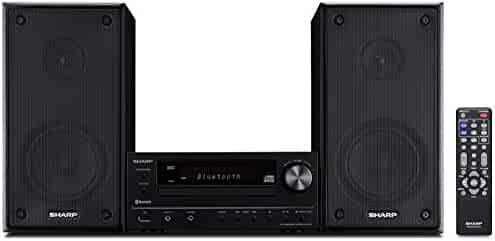 Sharp XLHF102B HI Fi Component MicroSystem with Bluetooth, USB Port for MP3 Playback, Built-in CD Player, AM/FM Tuners, 50W RMS, Remote Included, Black