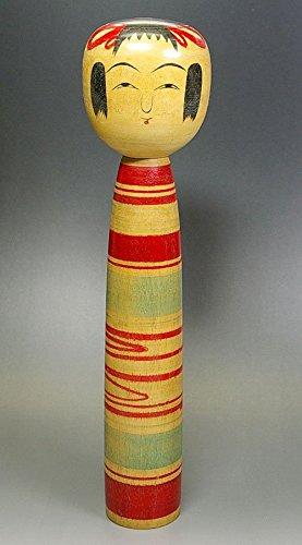 ★古い伝統 こけし【大内一次】土湯系★高さ30.5cm★TOHOKU KOKESHI Doll B01GNMDJME