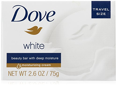 Dove White Travel Size Bar Soap With Moisturizing Cream 2.6 oz (Pack of 12)