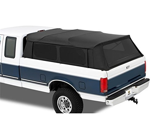 Bestop 76309-35 Black Diamond Supertop for Truck Bed Cover for 2004-2017 Ford F-150 Super Crew; 2004-2017 Nissan Titan Crew Cab (w/o Utility Track), 5.5' Bed (Best Top Truck Camper)
