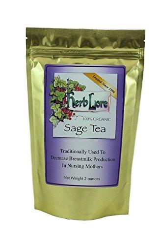 Herb Lore Organic Sage Tea, 60 Servings, Loose Leaf