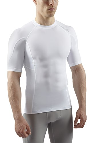 Sub Sports Mens Graduated Compression Short Sleeve Top Vest Running Recovery