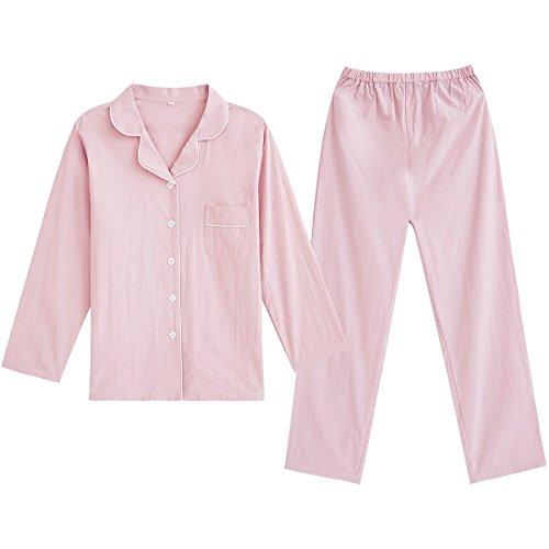 cotone Xiaoxiaozhang puro cotone puro abito da lunghe donna M in estate maniche Pigiama puro a gqXqC1w