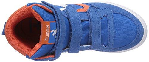 hummel STADIL JR CANVAS HI Unisex-Kinder Hohe Sneakers Blau (Brilliant Blue 7359)