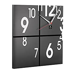 Cupecoy Design Wooden Square Wall Clock with Aluminum Hands. Size: 12 inch Square