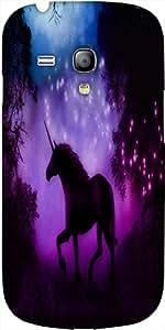 Snoogg Enchanted Unicorn Diseñador Protectora Volver Funda Para Samsung Galax...