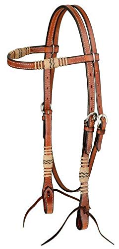 Royal King Browband Headstall with Braided Rawhide