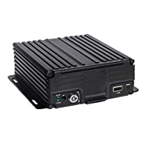 4 Channel AHD 720P H.264 HDD Vehicle Mobile DVR Security Surveillance Camera System Black Box Kit - Support 4G Real-time Remote Monitoring, GPS Tracking, Support 2TB Hard Drive Storage