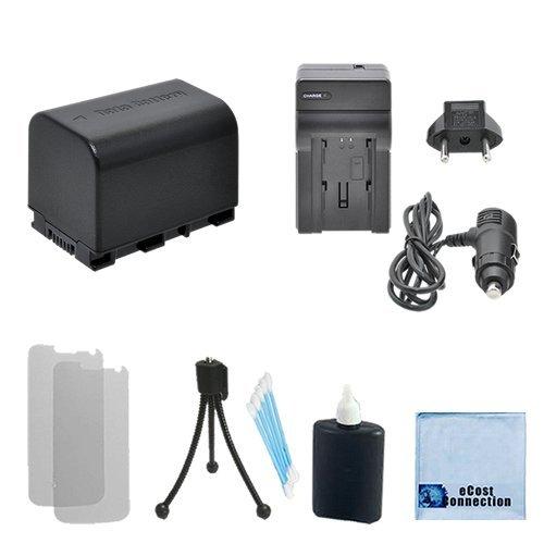 E10 Starter (BN-VG121 Replacement Battery + Car/Home Charger for JVC GZ-E10, GZ-E100, GZ-E200, GZ-E205, GZ-E220, GZ-E300, GZ-E306, + Complete Starter Kit)