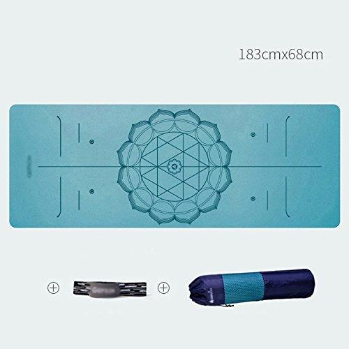2018新発 HUO 天然ゴムのヨガマットMsノンスリップ高弾性ソフト職業フィットネスマット拡張されたピクニックマットマンワイドカーペット183* 0.5/0.6cm 68* 0.5/0.6cm B07HL5RMNM* HUO 青 6mm 6mm|青, 新津市:89f395e1 --- arianechie.dominiotemporario.com