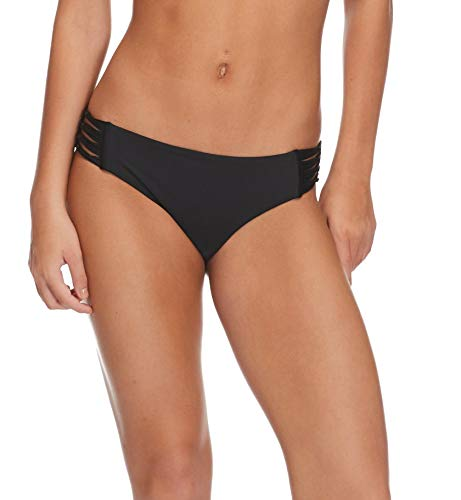 Body Glove Womens Swimwear - Body Glove Women's Smoothies Ruby Solid Bikini Bottom Swimsuit, Black, Medium