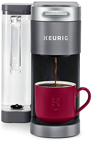 Keurig Ok-Supreme Coffee Maker, Single Serve Ok-Cup Pod Coffee Brewer, With MultiStream Technology, 66 ounces Dual-Position Reservoir, and Customizable Settings, Gray