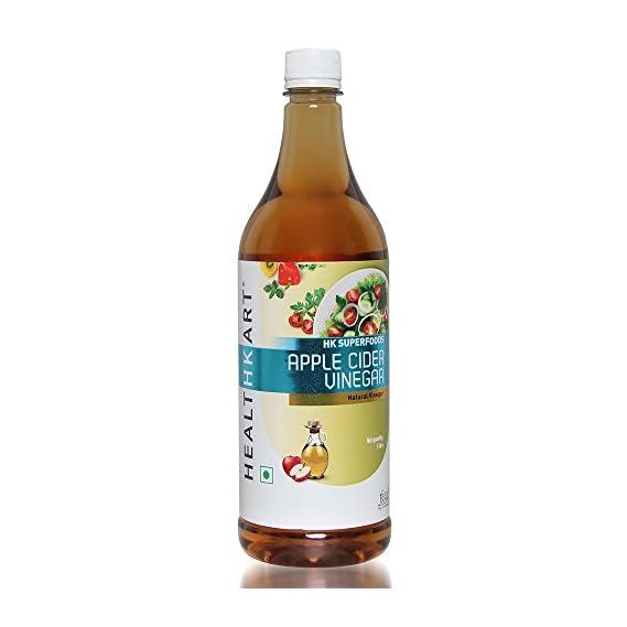HealthKart Apple Cider Vinegar (ACV), Unflavored, Filtered, 1L