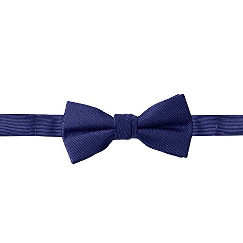 Handmade Boys Bow Ties For Boys Woven Navy Blue Kids Ties: For Wedding Graduation ()