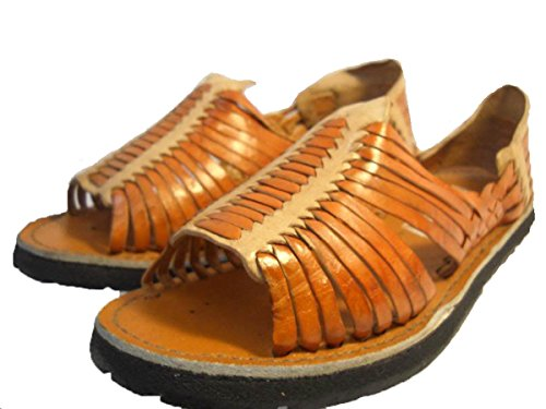 MEXICAN SANDALS-Men's Genuine Leather Quality Handmade Sandals Huarache Tan/Beige_8
