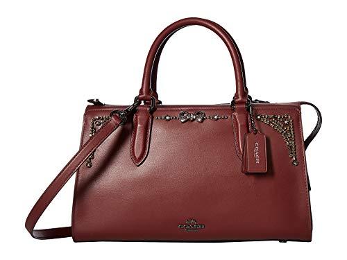 COACH Women's Crystal Embellished Selena Bond Bag Gunmetal/Wine One Size -