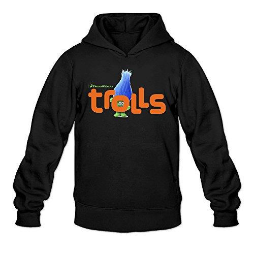 Chris-T Trolls Head Movie Men's Long Sleeve Fleeces Black US Size XXL]()