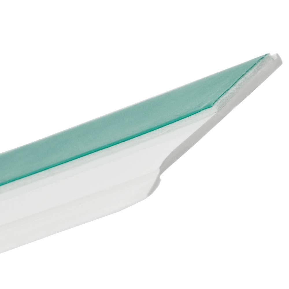 B: 40mm | L: 5m Flachleiste Kunststoffleiste Fensterleiste mit Gummilippe