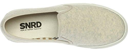 SNRD 131-7 Unisex-Slipper bis hoch Casual Schuhe Sneaker 136-Ivory