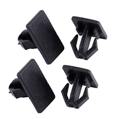 (beler 4pcs Black Plastic Rocker Panel Molding Clips For Dodge Charger Magnum Chrysler 300)