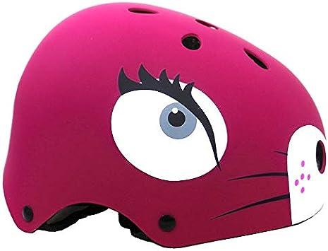 Casco para ni/ños 2-13 a/ños Lindos Cascos de Bicicleta de Dibujos Animados Equipo de protecci/ón multideportivo Ajustable para j/óvenes Tama/ño del Casco 19-22 para ni/ños Ni/ñas A