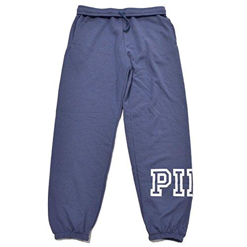 Victoria's Secret PINK Campus Sweat Pants Calm Blue Large (Victoria Sweatpants)