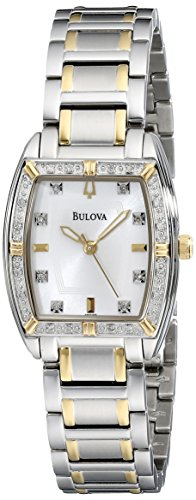 Bulova Women's 98R159 Two-Tone Bracelet - Watch Two Mop Tone Bracelet