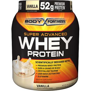 Body Fortress Whey Protein Powder, Vanilla, 32 Ounces (907g) - Pack of 2