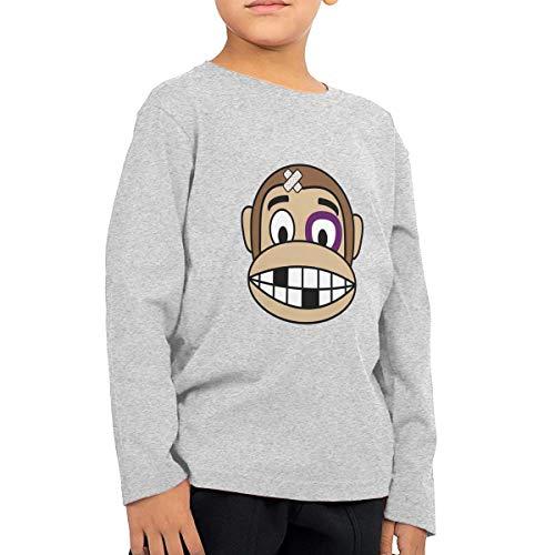 Monkey Fighter Toddler Kids Baby Girls T-Shirt Long Sleeve Crew Neck T-Shirts Soft Tee Shirt