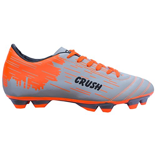 GOWIN Crush Silver/Orange Football Shoes Material TPU