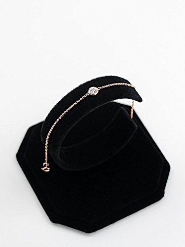 Diamond Bracelet, Brilliant Cut 0.11 Ct. Diamond Bezel Set Bracelet, Diamond Solitaire Bracelet, Minimalist Bracelet