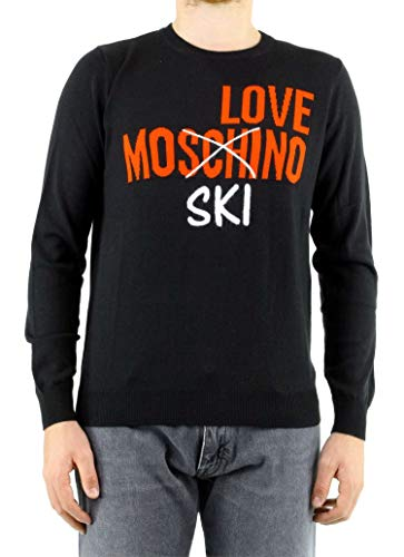 MOSCHINO Men's Msg1811x1148c74 Black Wool Sweater for sale  Delivered anywhere in Canada
