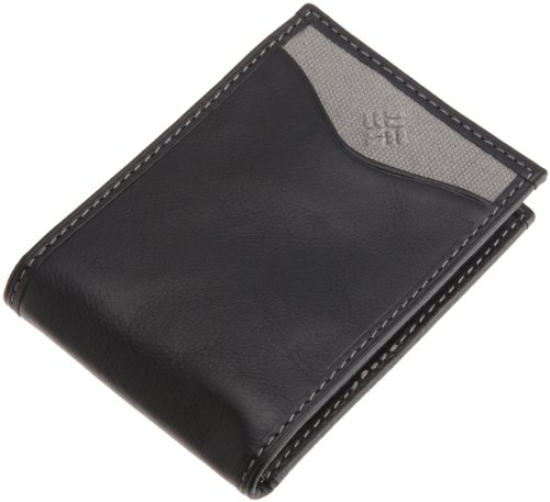 Columbia Men's Leather Slim Front Pocket Money Clip Wallet , Black, One Size (Folding Money Clip)