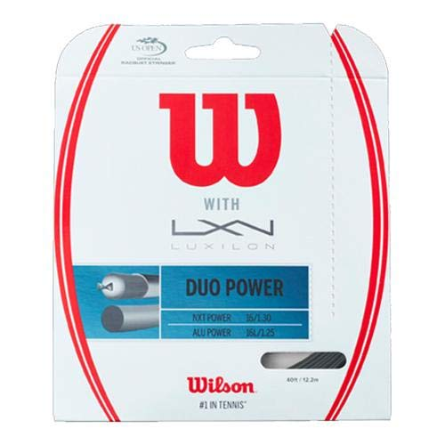 Wilson Duo Power 16g Hybrid Tennis Racket String (Luxilon ALU Power 125 and NXT Power)
