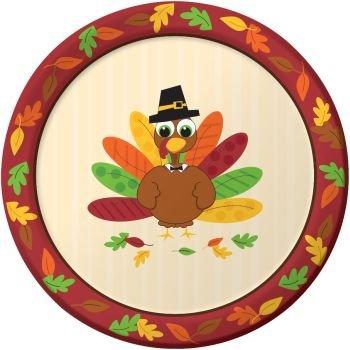 Thanksgiving Turkey Fun 9-inch Paper Plates 8 Per Pack  sc 1 st  Amazon.com & Amazon.com: Thanksgiving Turkey Fun 9-inch Paper Plates 8 Per Pack ...
