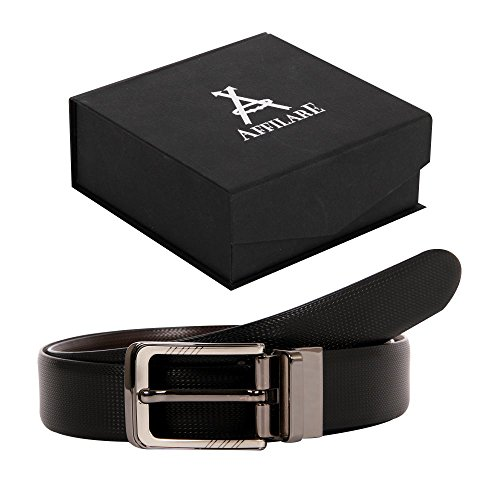 33-34 Affilare Reversible Men's Dress Belt 35mm Black/Brown Reversible 12RBPX401BB from Affilare