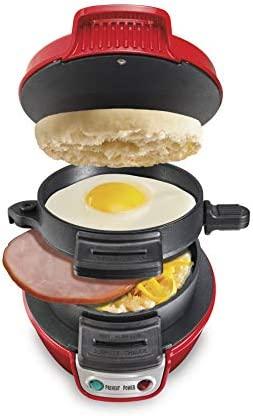 Hamilton Beach Breakfast Sandwich Maker, Red (25476)
