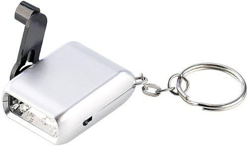 PEARL Mini-Dynamo-Taschenlampe mit Schlüsselanhänger