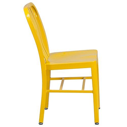 Flash Furniture Yellow Metal Indoor-Outdoor Chair