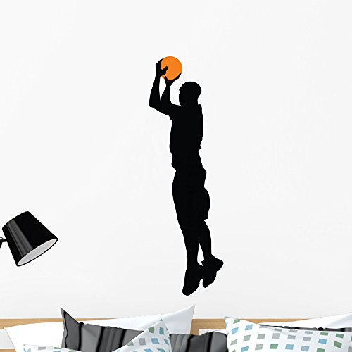 (Wallmonkeys WM250251 Basketball Player Silhouette Wall Decal Peel and Stick Graphic (36 in H x 11 in W))