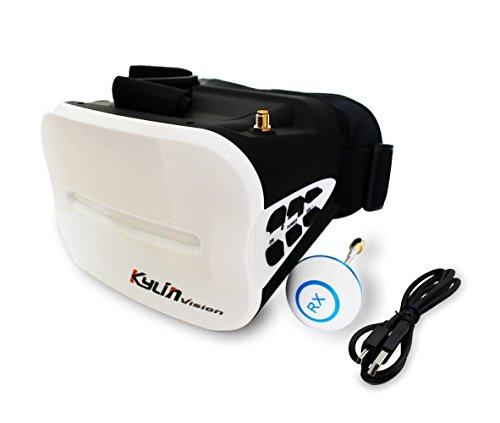 """BTG JJPRO VISION 5.8GHz FullBand FPV Goggles Headset 5"""" Screen - With Receiver and Battery - for 250 FPV RC Racing Quadcopters"""
