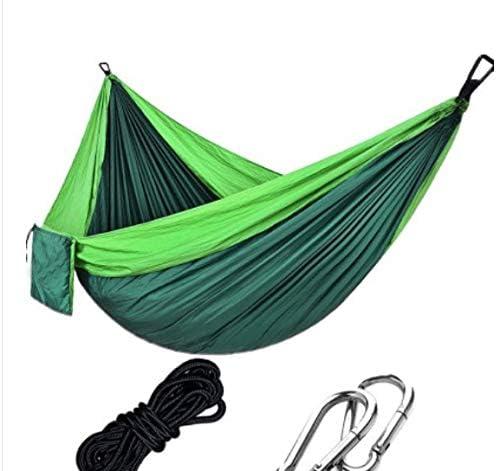 Hamaca Ligera Paracaídas Súper Grande Camping Supervivencia Jardín Caza Ocio Al Aire Libre Viaje Patio Hamaca (Verde Claro Ortografía Verde): Amazon.es: Jardín
