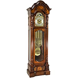 Hermle 010953N91171T Anstead Tubular Chime Grandfather Clock - Cherry