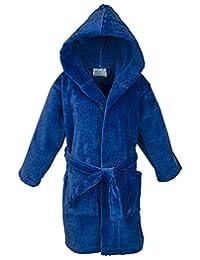 100% Turkish Cotton Kids Hooded Terry Velour Robe - Boys