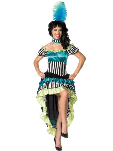 Summitfashions Can Can Costume Dress Sexy Dancer Cancan Dress Womens Theatrical Costume Sizes: (Can Can Dancer Costumes For Women)